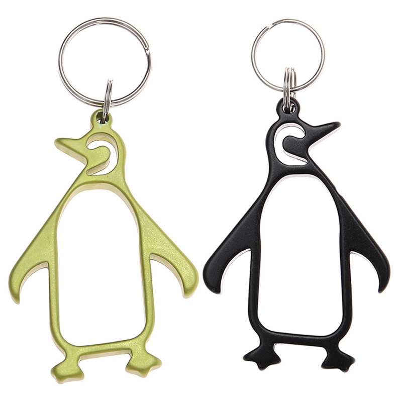 New Fashion Style Useful Buckle Metal Bottle Opener Unique Gift Penguin Shaped Bottle Opener Keychain 2 Color s For Gifts ...