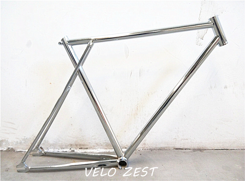 fixed gear framefork cromor chromoly steel vintage pursuit track bike frameset velo pursuit frameset