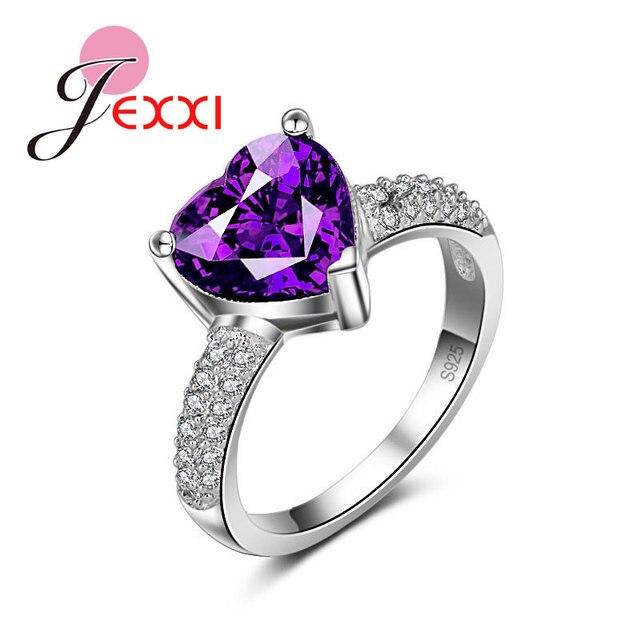 natural amethyst heart design wedding ring free shipping. Black Bedroom Furniture Sets. Home Design Ideas