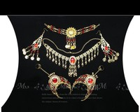 2015 6 Pcs Set Wholesale Indian Belly Dance Wear Belly Dancing Accessories Necklace Jewelry Set For