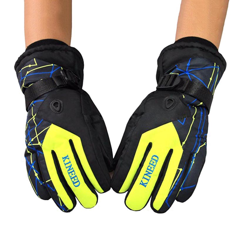 New Antiskid Wear Resistant Riding Ski Gloves Mountain Skiing Snowmobile Waterproof Snow Motorcycle Windproof Gloves