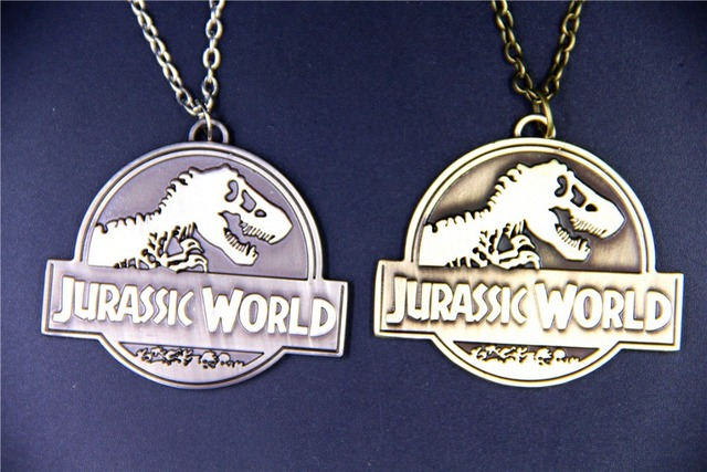 Fashion Jewelry Vintage Charm Jurassic World Pendant Necklace For Men And Women