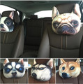 2pcs 3D printed car styling pillow,neck support, bulldog panther tiger cool decorations,cute lovely gift to friend vivid funny