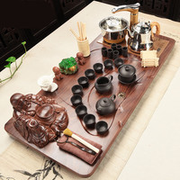 Large Size Automatic Tea Set Teapot Cups Home Solid wood tea tray four in one Kung Fu Tea Set with Tea Accessories Fast Post