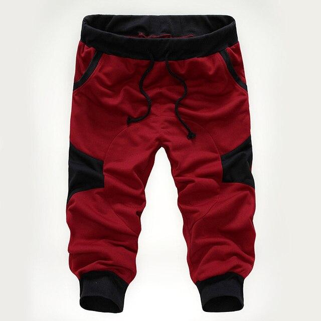 91631feacd Moda baggy Loose Casual Para Hombre Capri Recortada Pantalones Cortos  Pantalones de verano Masculinos Pantalones de