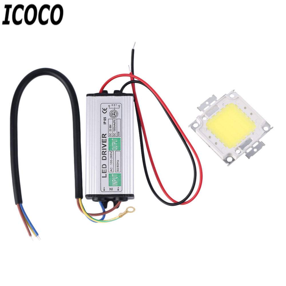 ICOCO High Quality 10-100W LED SMD Chip Bulbs With High Power Waterproof LED Driver Supply Lighting for LED Strip Downlight Sale