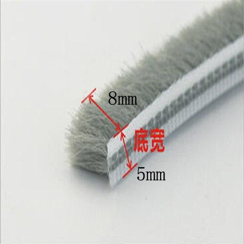 10m 5mm X 8mm Aluminum Sliding Door Window Gap Nylon Pile