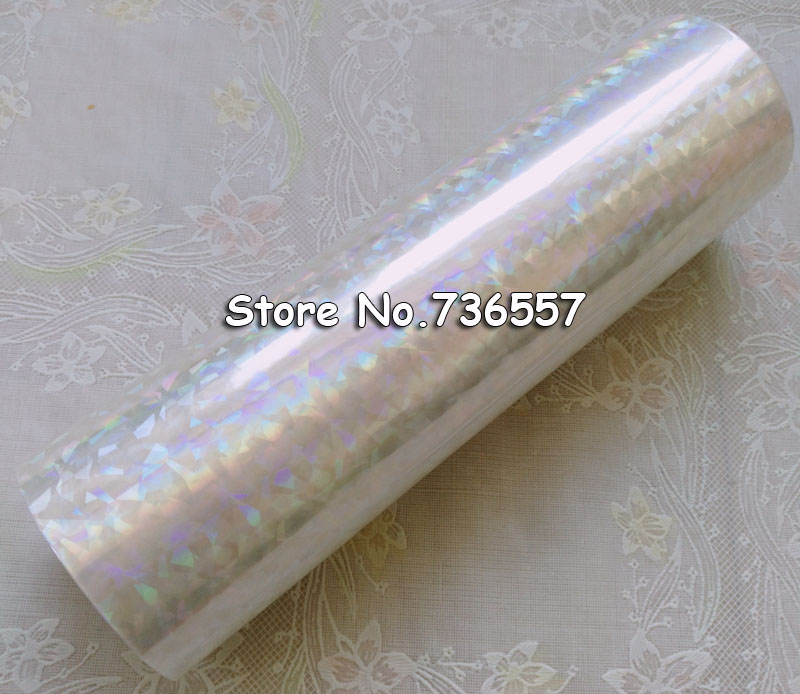 (2roll/lot) Free Shipping Holographic foil transparent hot stamping foil on paper or plastic 16cm x 120m Shattered Glass 4 rolls lot holographic foil b01 hot stamping on paper or plastic 16cm x 120m