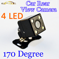 170 Degree 4 LED Night Vision Car Rear View Camera HD Video Waterproof Auto Parking Monitor Reversing CCD