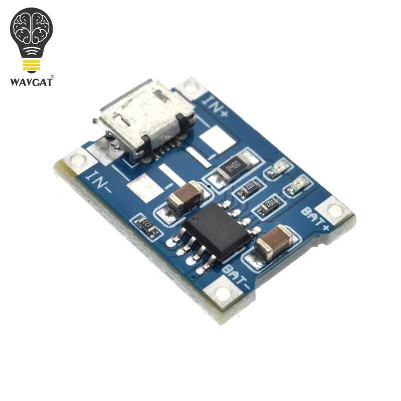 WAVGAT 5 V 1A Micro USB 18650 batterie au Lithium chargeur Module + Protection double fonctions TP4056
