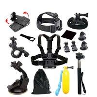 GoPro accessories 13 in 1 Set Family Kit Go Pro SJ4000 SJ5000 SJ6000 accessories package for GoPro HD Hero 1 2 3 3+ 4 xiaomi yi