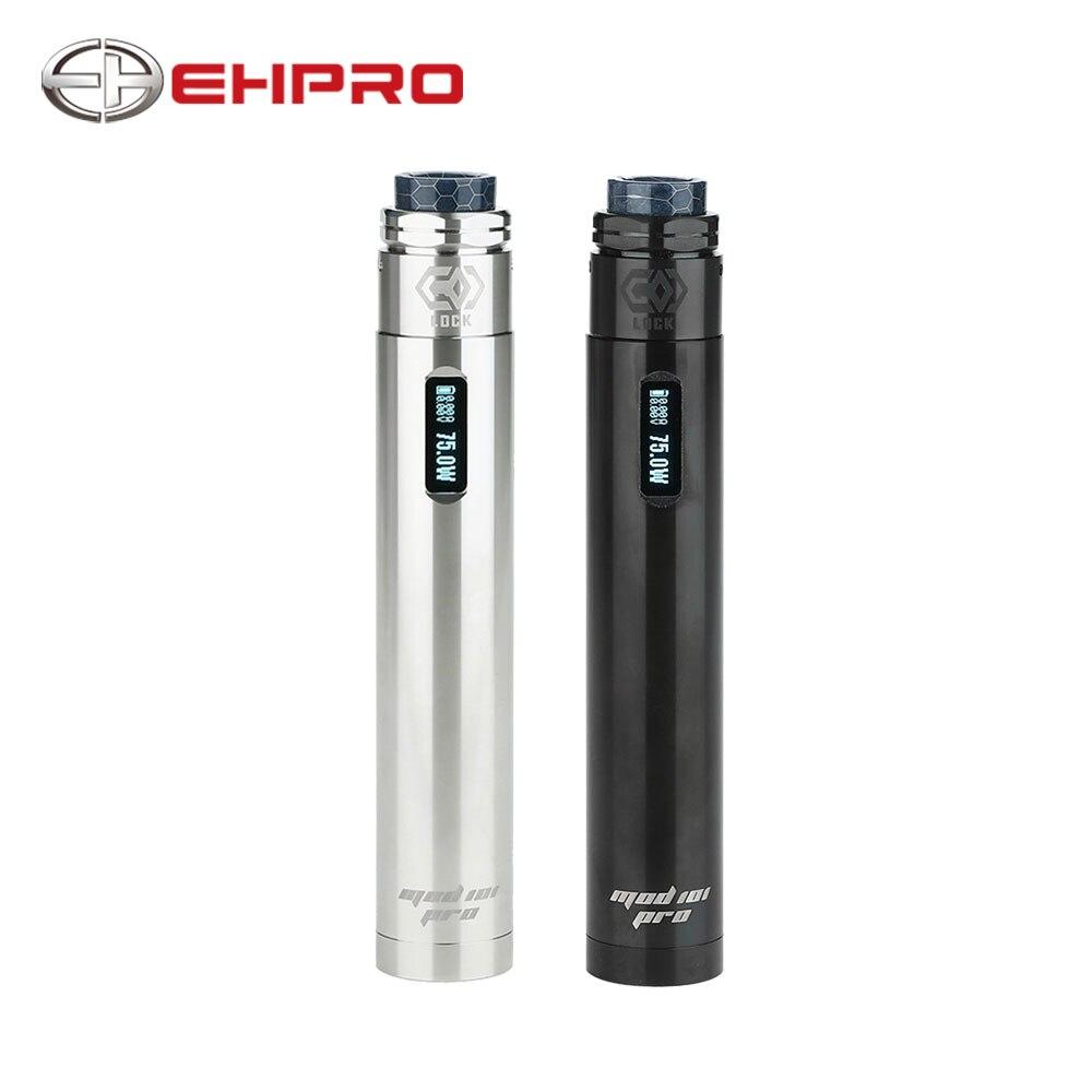 Original Ehpro 101 Pro Kit Pen-style TC Kit With MOD 101 Pro Mod & Ehpro Lock Build-free Single Coil RDA No 18650 Battery E-cig
