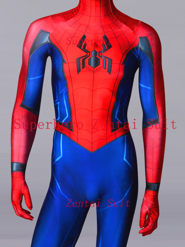 Possible Spider-Man Homecoming Sequel Costume 3D Print Fullbody Halloween Cosplay Spider Suit For Adult/Kids Free Shipping