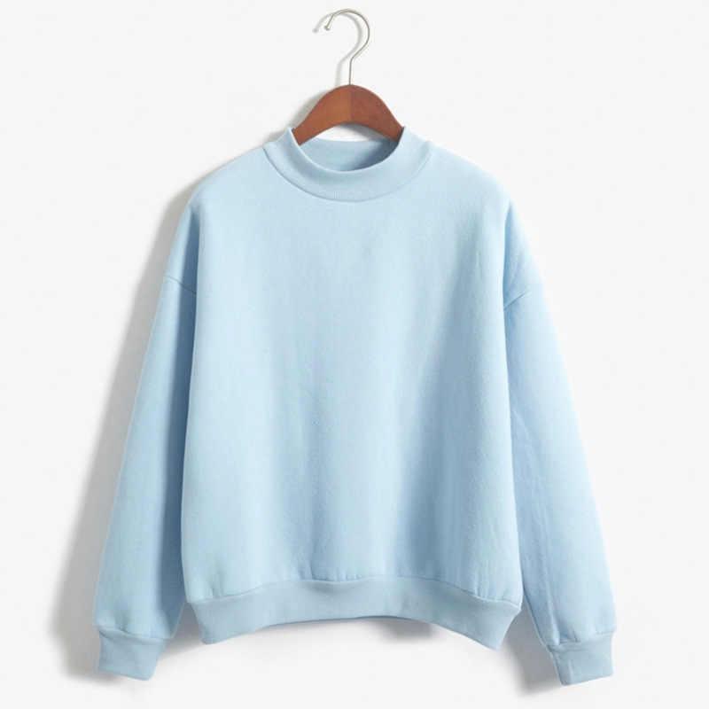9 צבעים סתיו החורף רופף צמר עבה לסרוג סווטשירט נקבה סלעית סוודר חולצות נשים נים מקרית נשי בגדים