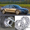 4pcs 5X112 66.6CB 25mm Thick Hubcenteric Wheel Spacer Adapters For Audi A4/A5/A6/A7/Q5