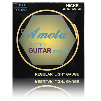 E1200 .009-.042 Electric guitar strings Super Light guitar accessories nickel guitar parts musical instrument strings image