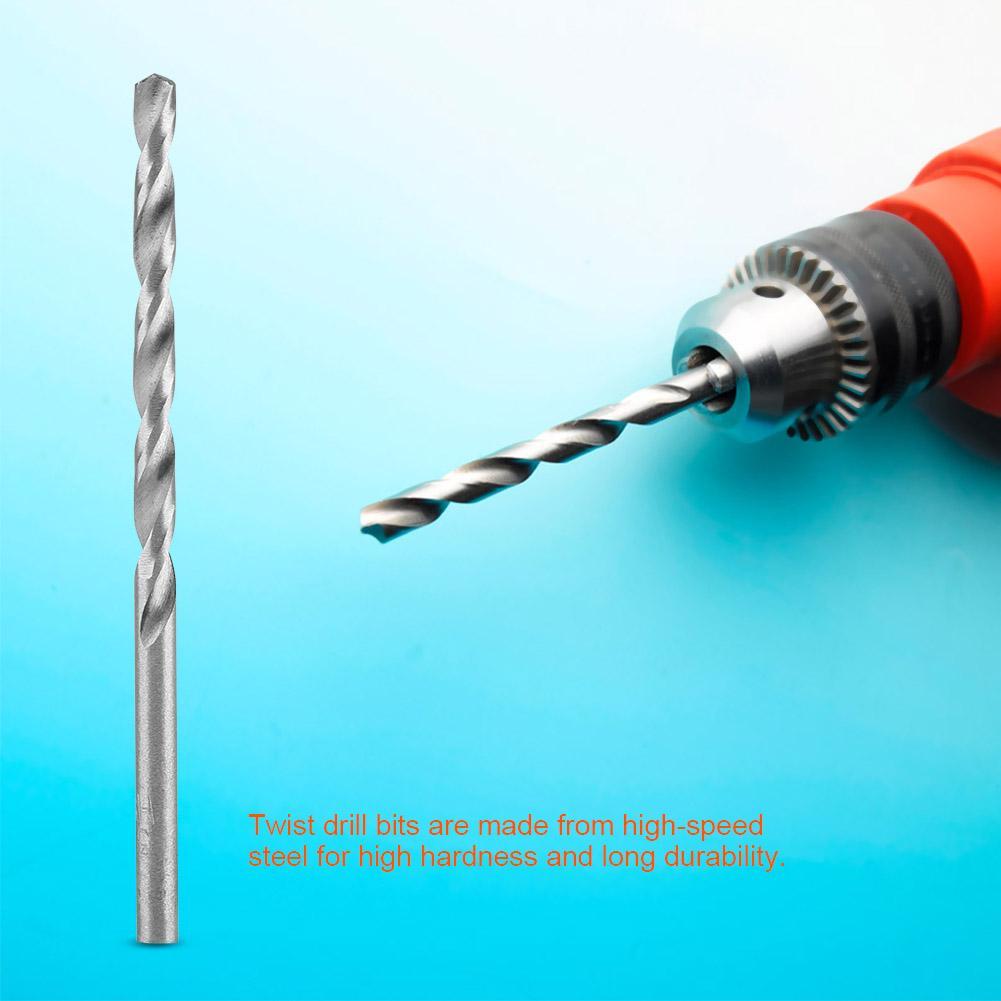 10pcs Straight Shank Twist Drill Bits Drilling Tools for Metal Wood ...