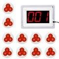 Pager Wireless Sistema de Llamada Del Restaurante Sistema de Paginación de Invitados 1 Exhibición del Anfitrión + 10 Campanas de Mesa F4421B Botón de Llamada de Servicio Al Cliente