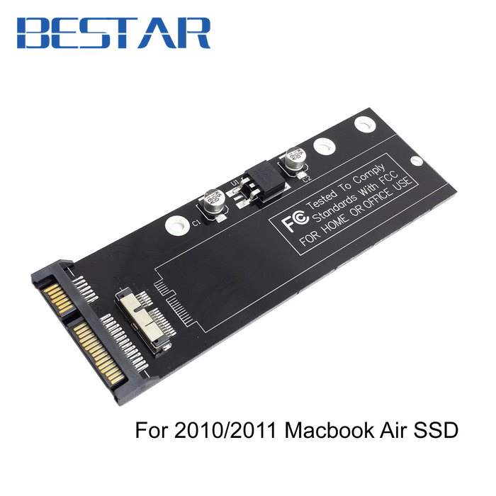 PCBA 12+6pin SSD HDD to SATA 22Pin Hard Disk Cartridge Drive for Apple 2010 2011 Macbook Air A1369 A1370 SSD kingfast ssd 128gb sata iii 6gb s 2 5 inch solid state drive 7mm internal ssd 128 cache hard disk for laptop disktop