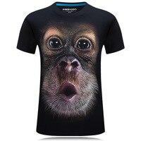 2016 Summer Men S Brand Clothing O Neck Short Sleeve Animal T Shirt Gas Monkey Lion