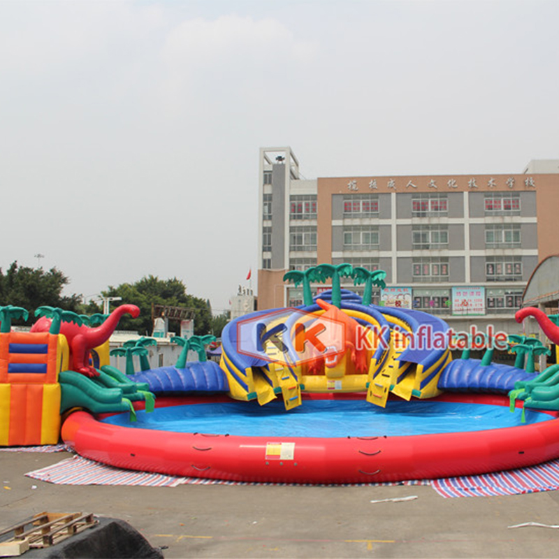 Jurassic Dinosaur Water Park,inflatable Water Park Combination