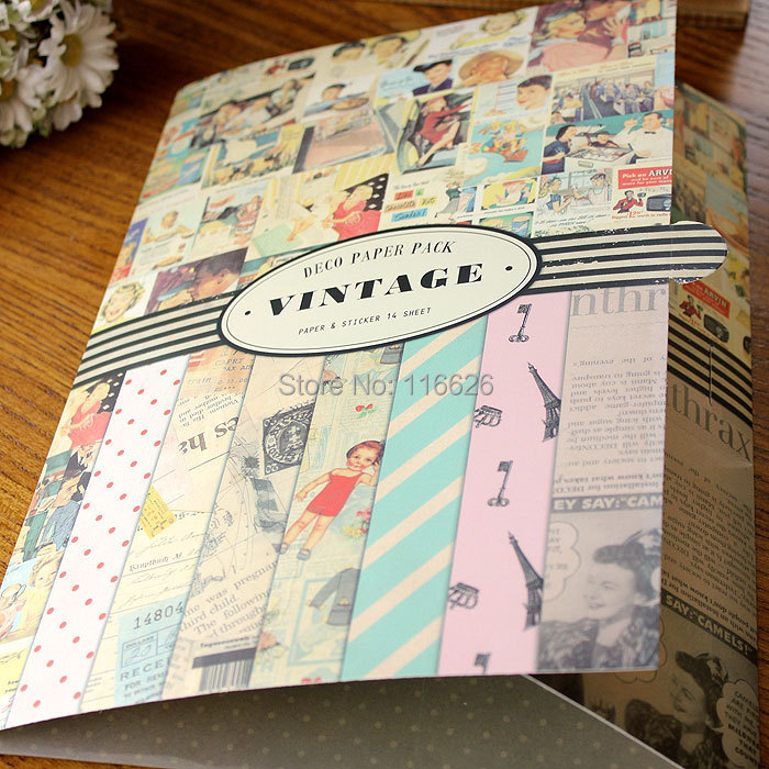 buy vintage large gift wrapping paper a3 a4 size with decorative stickers. Black Bedroom Furniture Sets. Home Design Ideas
