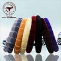 Charm Warm Long Wool Plush car Steering Wheel Cover woolen Car Handbrake Accessory hot selling