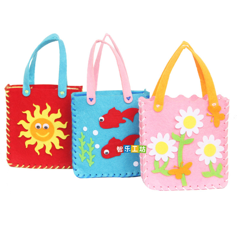 Kindergarten Handmade DIY Colorful Handmade Bag Early Learning Education Toys Montessori Teaching Aids Math Toys