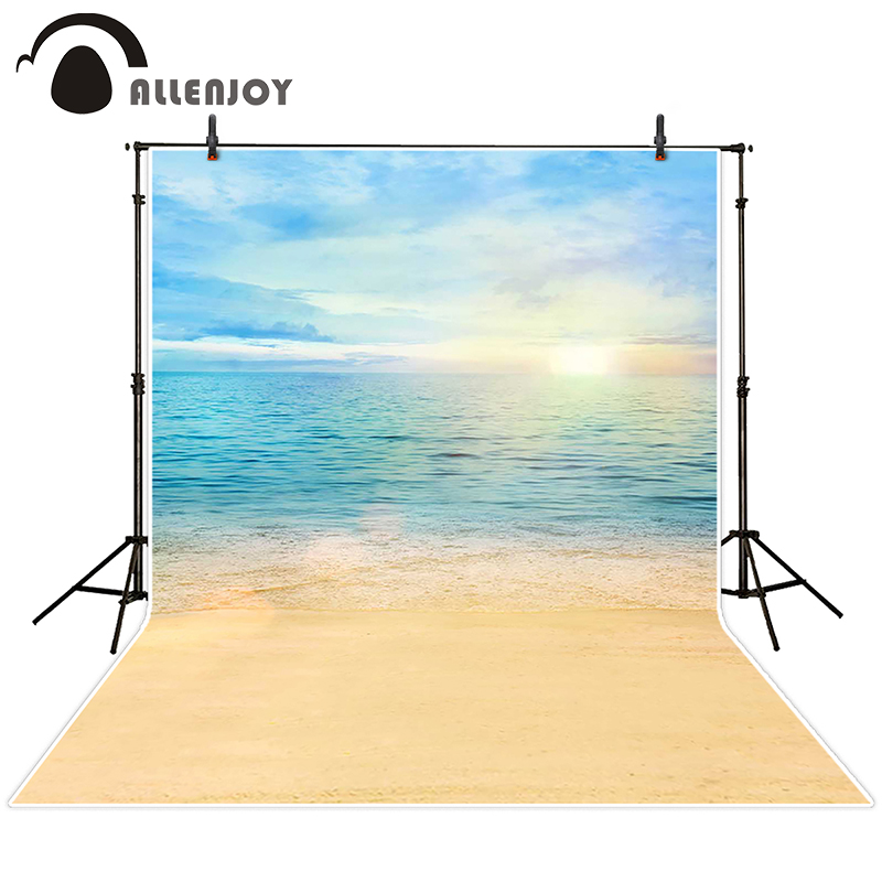 Allenjoy photographic background Sky sun ocean beach backdrops children kids photo digital 10ft*20ft