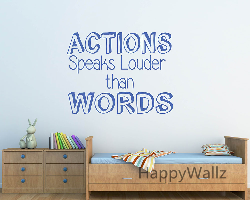 popular inspirational quotes wallpapers buy cheap inspirational motivational quote wall sticker action speaks louder than words inspirational quote wall decal diy wallpaper custom