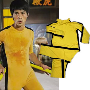 Image 5 - Adult Kids Bruce Lee Cosplay Jeet Kune Do Uniform Unisex Yellow Jumpsuit Chinese Kung Fu Training Suit Game of Death Costume