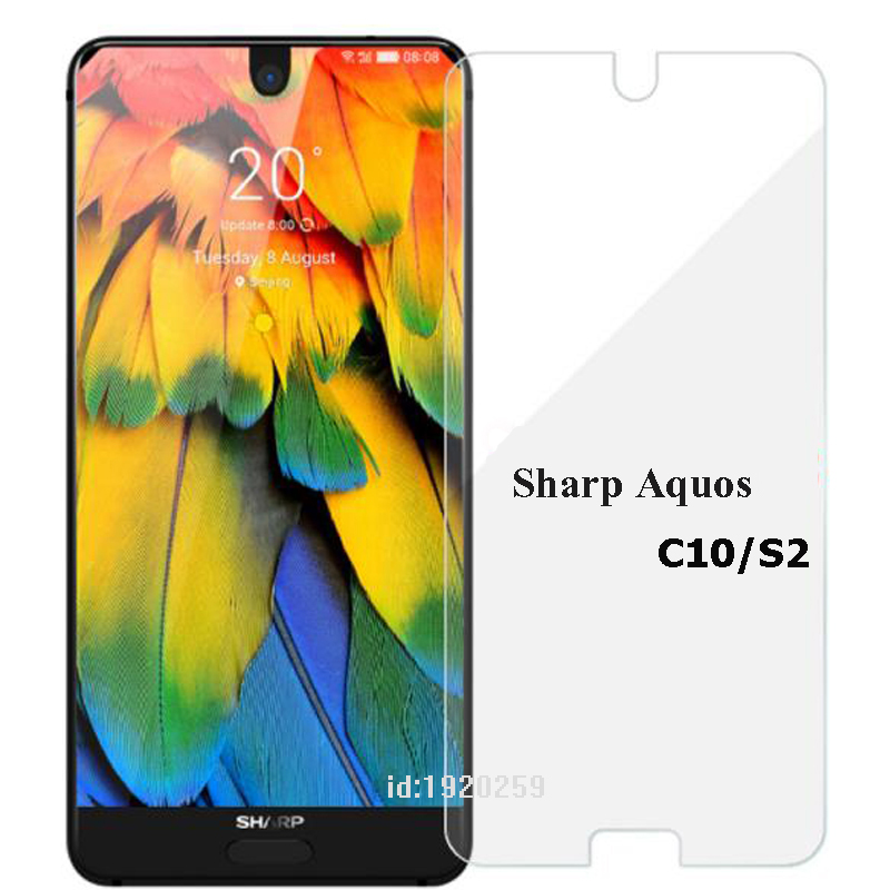 For Sharp Aquos S2 S 2 Tempered Glass 9H High Quality Protective Film Explosion-proof Screen Protector For Sharp Aquos C10 Case