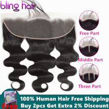 bling hair Body Wave 13*4 Lace Frontal Closure with Baby Hair Free Par
