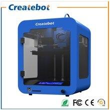 Createbot Super Mini 3D Printer kits FDM Full Metal Frame Blue Color 3d printer with 1 roll Filaments for Artistic & Education