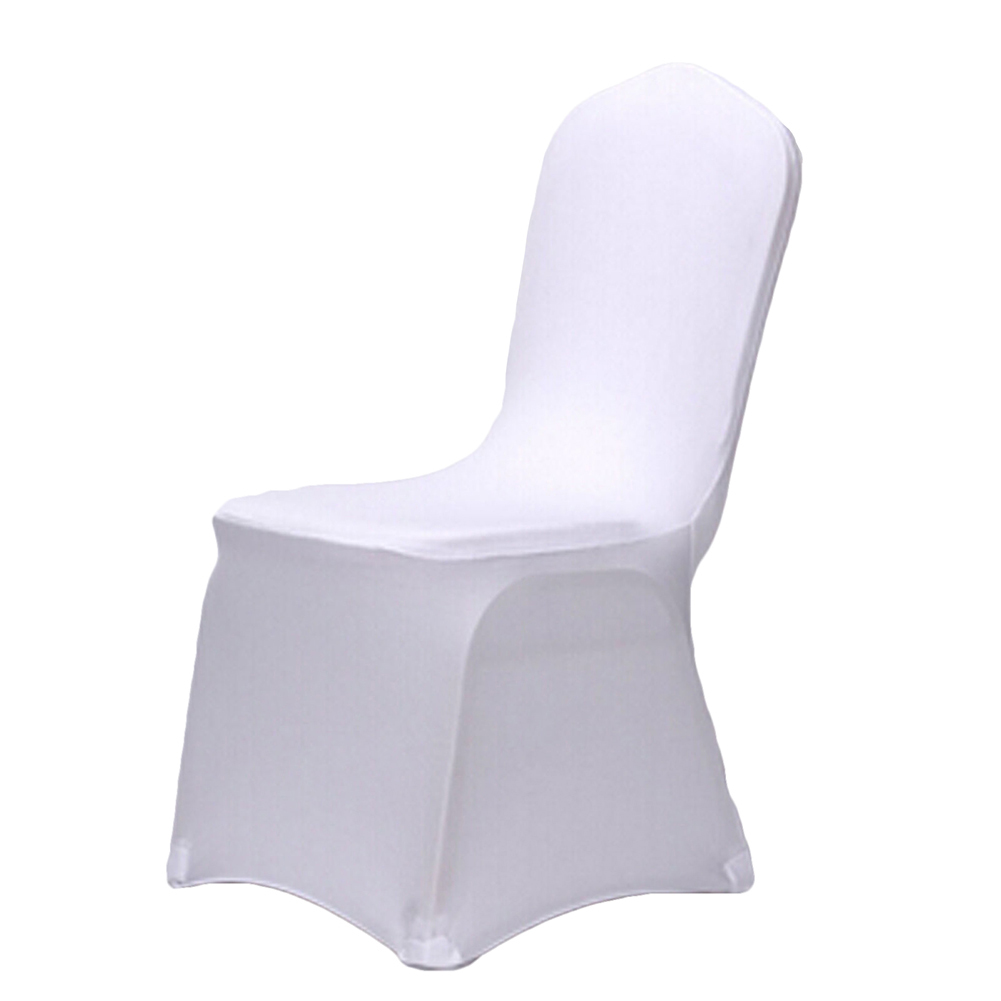 Stretch Elastic White Spandex Wedding Chair Covers For Weddings Banquet Hotel Polyester Fabric