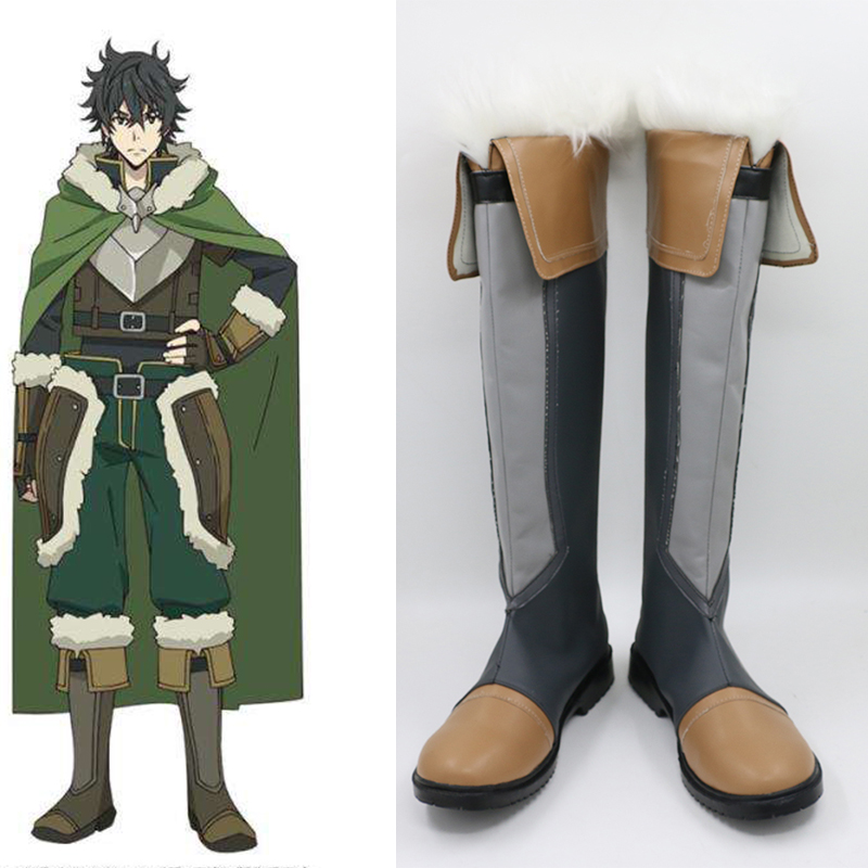 The Rising Of The Shield Hero Naofumi Iwatani Tate no Yuusha no Nariagari Customized Boots Anime Cosplay Costume Shoes
