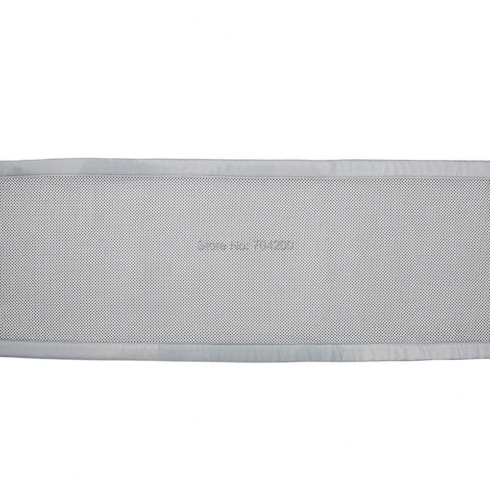 Серый и Белый Классический дышащий сетчатый вкладыш для детской кроватки