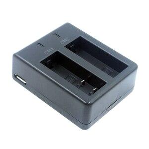 Image 2 - Usbデュアル充電器 + 2 個 1050mahの充電式リチウムイオンカメラのバッテリーeken H9 H9R H3 H3R H8PRO H8R h8 プロスポーツアクションカメラ