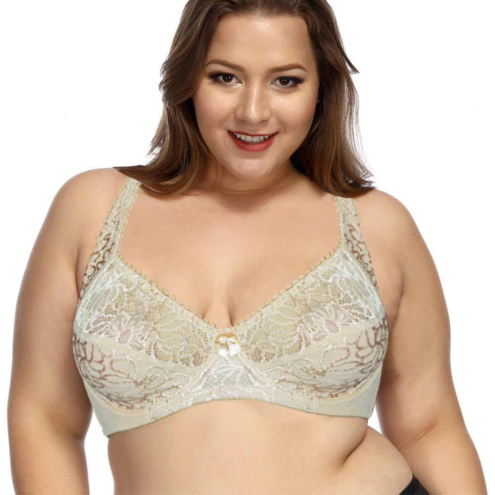 ca1c6c98ef ... Sexy Womens Lace Bras Lager Bosom Underwired Perspective brassiere  Lingerie Floral BH Plus Size Bralette B C D ...