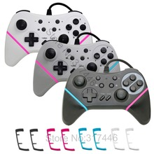 Changeable Color Strips Wired Pro Controller for Nintend Switch Console and PC