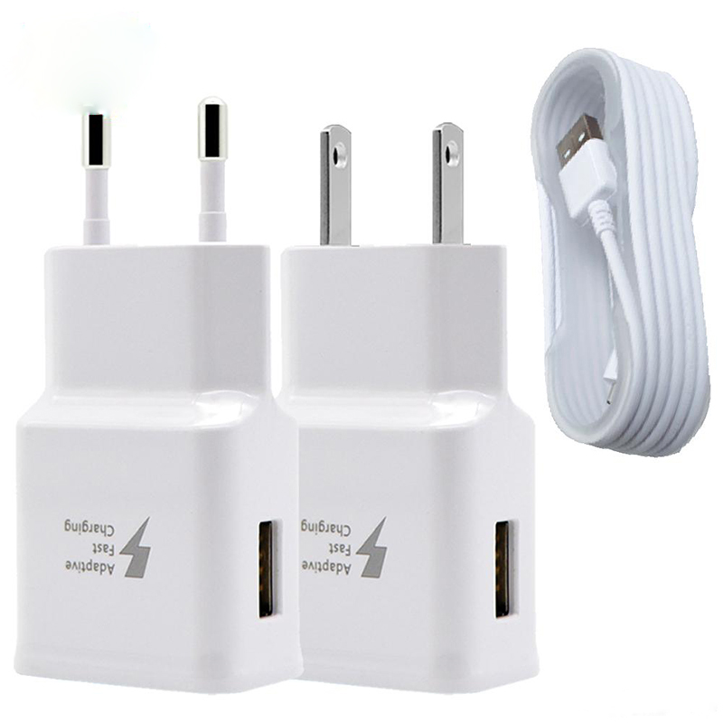 50PCS Fast Travel Wall Charger 9V 1 67A 5V 2A High Quality Adapter for iPhone 7