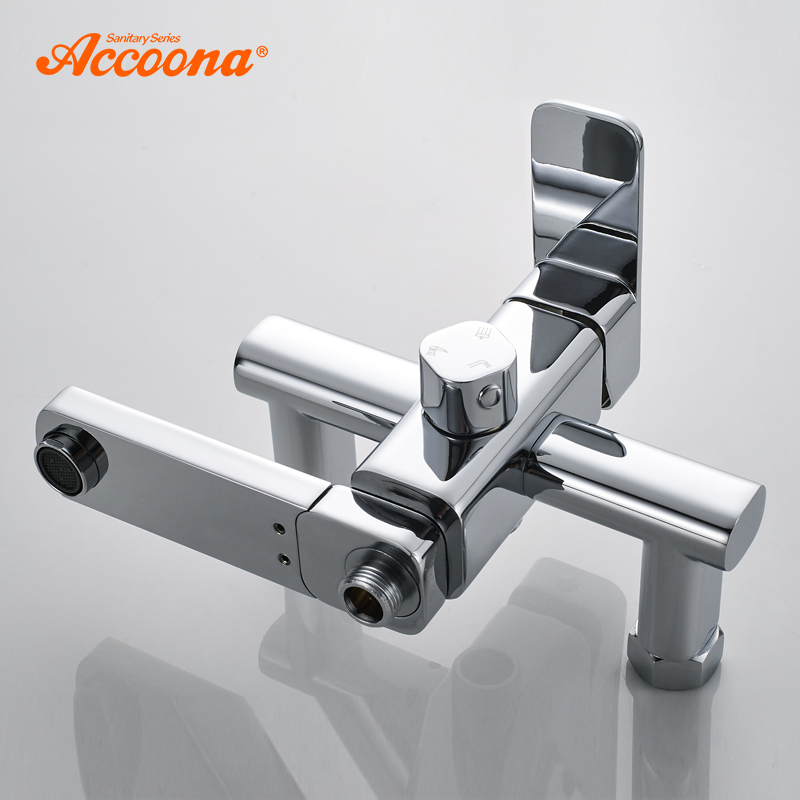 Accoona luksusowy prysznic wody prysznic kąpielowy współczesny prysznic kran do łazienki pojedynczy uchwyt wiele kontroli krany A8394