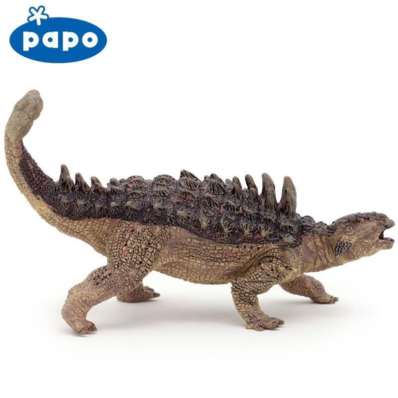 Papo Ankylosaurus Simulated dinosaur model Museum Collection Jurassic World Ancient creatures simulation brand papo stegosaurus dinosaur model resin children action