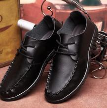 Новое Прибытие Весна Мужская Повседневная Обувь Известный Дизайн Мужские на шнурках Плоские Туфли нескользящей Дышащий Лодка Обувь размер 38-47