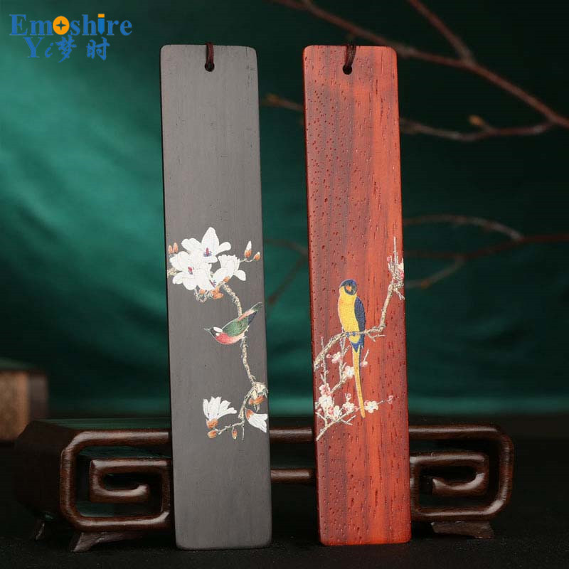 Handmade Custom Redwood Bookmarks Retro Wooden Business Gifts Wooden Bookmarks Creative Gifts Bookmarks Set M082 wooden ancient bookmarks chinese complex classical teachers festival gifts bookmarks creative bookmarks sets m097