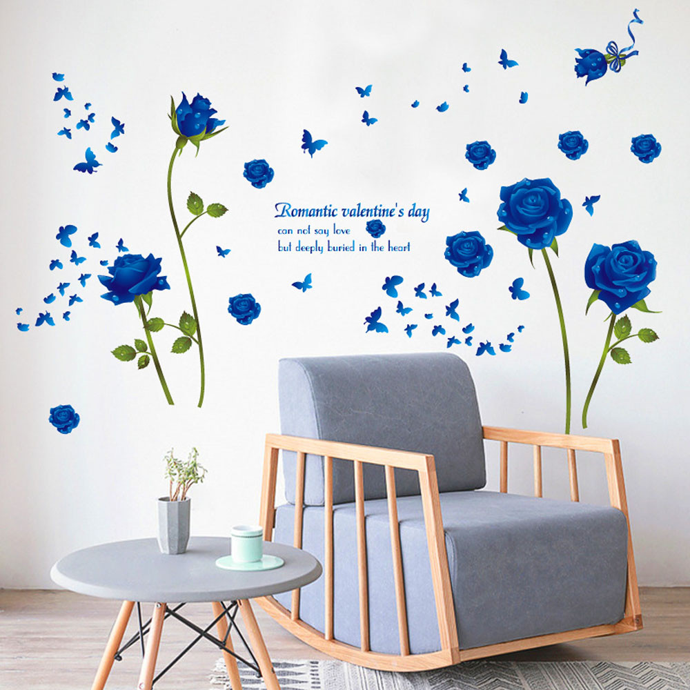 Diy Flower Wall Stickers Home Decoration Accessories Large Mural