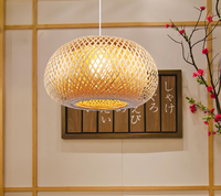 Southeast Asia style hand knitting bamboo art Chandelier Modern rural E27 LED lamp for porch&parlor&stairs&corridor LHDD046