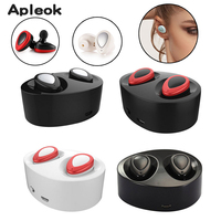 Mini Earphone TWS K2 Wireless Earbuds Bluetooth Stereo Headset With Mic Charging Box Dock PK Q29