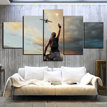 PUBG Game 5 Piece HD Print Wall Art Canvas Art For Living Room Decor Painting Wall Art Canvas Modern Home Decor Picture Artwork ravnica allegiance game modern home decor hd print wall art canvas art for living painting wall art 5 piece home painting