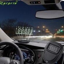 Tiptop Новейший Универсальный Автомобильный GPS HUD Head Up Display КМ/ч & MPH Предупреждение О Скорости Plug & Play DEC23